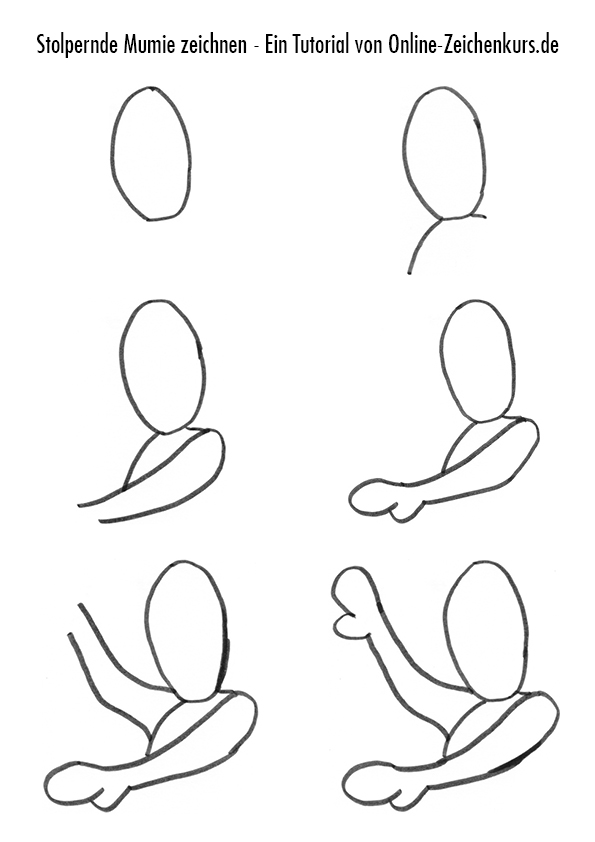 Mumie Zeichenanleitung