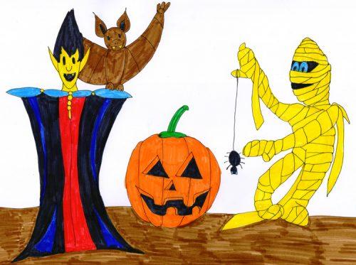 Halloween Gestalten - koloriert