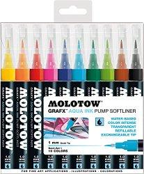 Molotow GRAFX Aqua Ink 10er Set