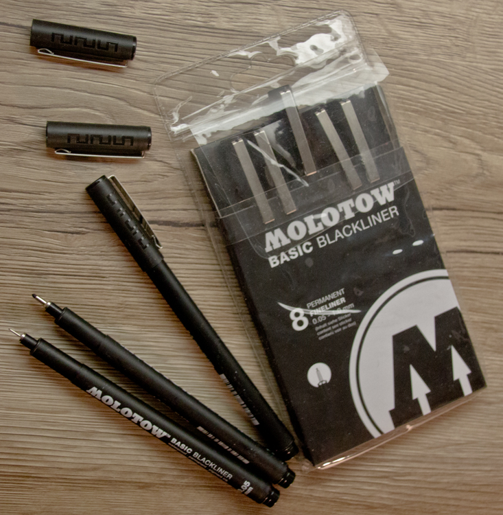 Molotow Basic Blackliner - 8 Fineliner Verpackung