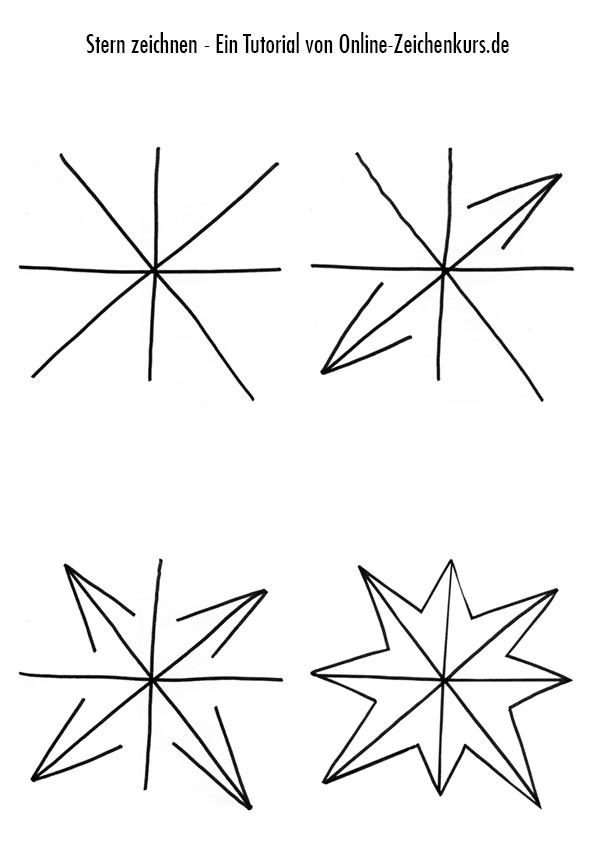Zeichnen Anleitung: Stern