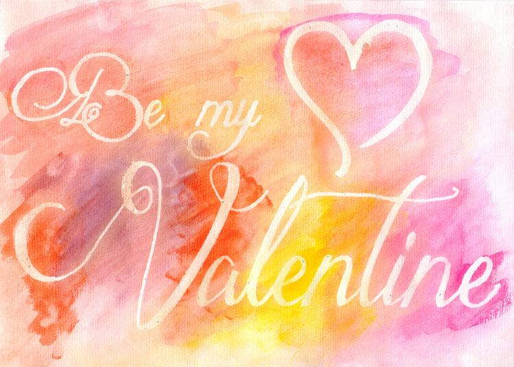 """""""Be my Valentine"""" - Erster Versuch"""