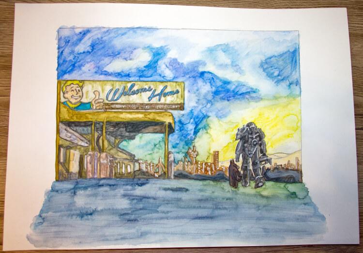 Fallout 4 Aquarell