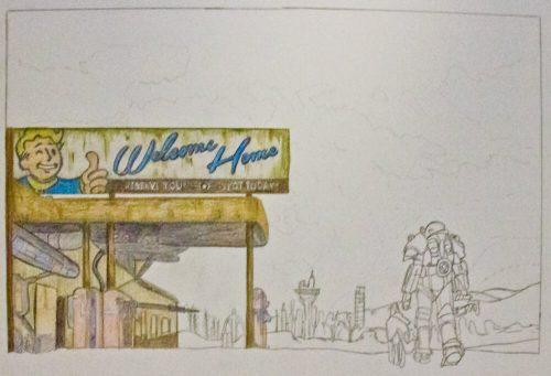 Fallout 4 Zeichnung 4