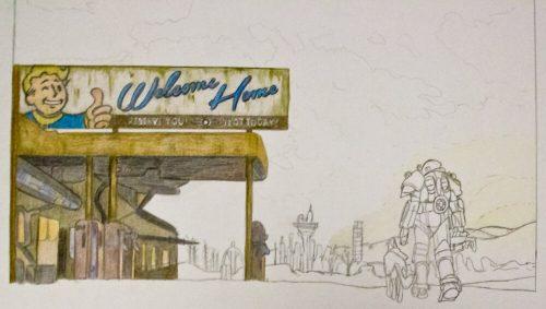 Fallout 4 Zeichnung 5