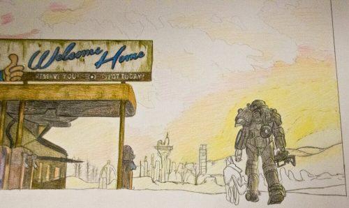 Fallout 4 Zeichnung 7
