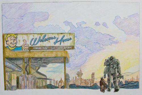 Fallout 4 Zeichnung 8