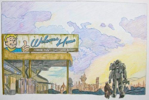 Fallout 4 Zeichnung 9