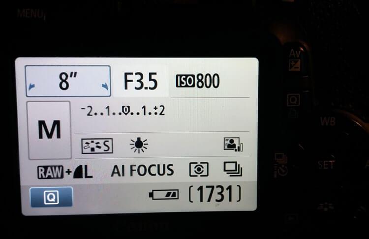 Canon EOS 550D Kameraeinstellung