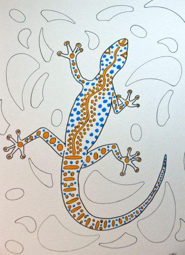 Aborigini Eidechse - Kolorierung 1