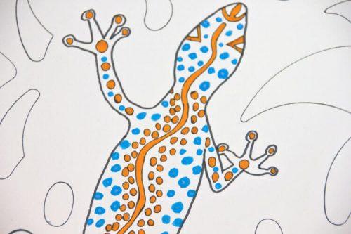 Aborigini Eidechse - Kolorierung 2