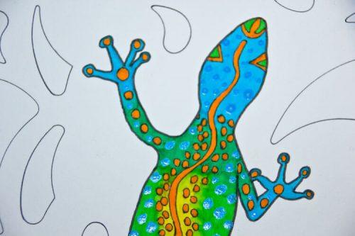 Aborigini Eidechse - Kolorierung 4