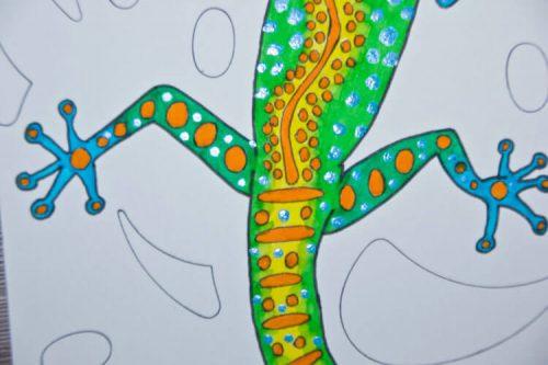 Aborigini Eidechse - Kolorierung 5