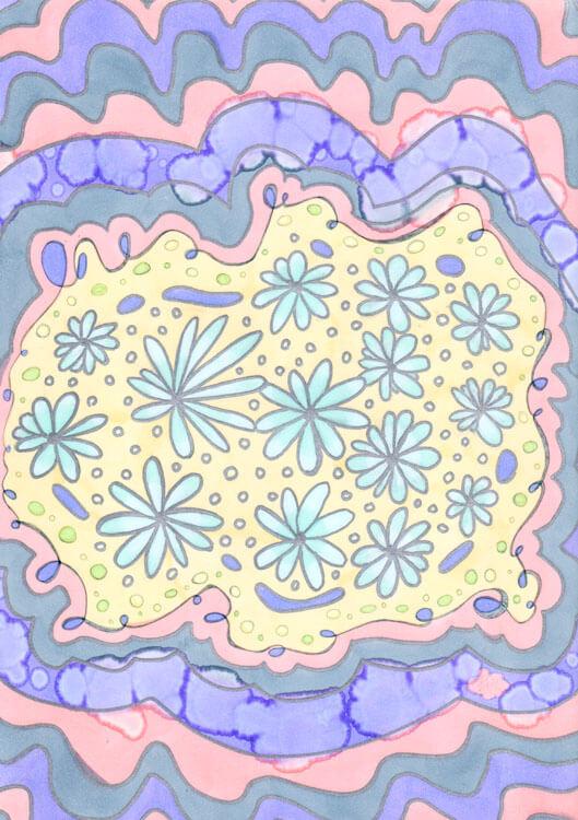 Spectrum Noir Beispielbild Blumen Ornamente