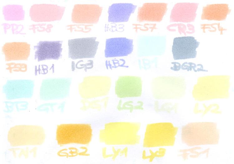 Spectrum Noir Marker Farbtest