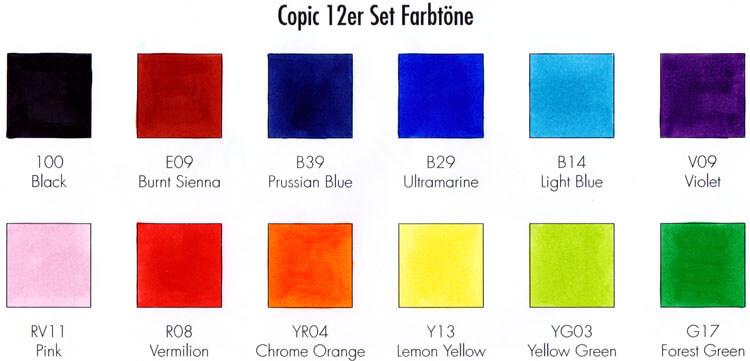 Copic - Farbtest