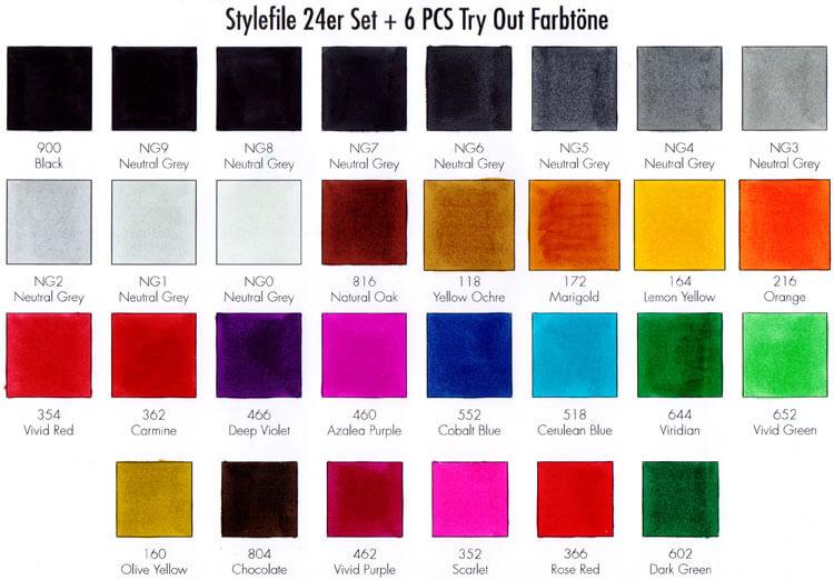 Stylefile - Farbtest