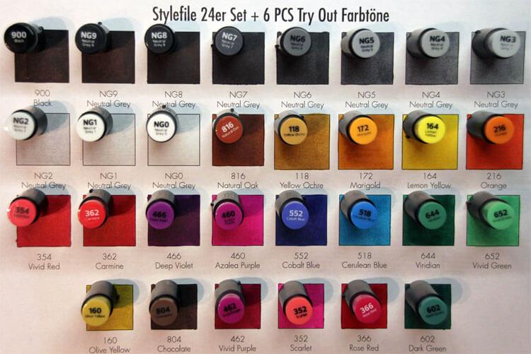 Stylefile Kappenfarbe - Vergleich