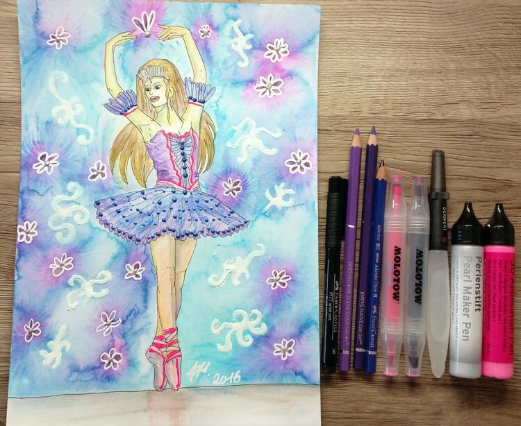 Ballerina: Fertiges und Bild verwendete Materialien