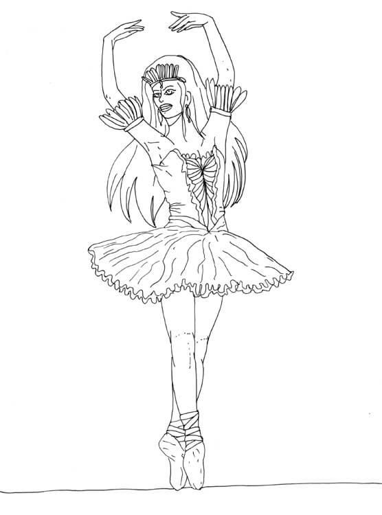 Ballerina - Finelinerkonturen