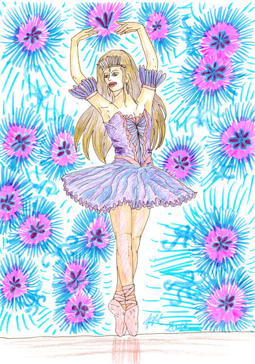 Ballerina Kolorierung: Molotow Aqua Twin