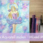Ein Aquarell entsteht – Ballerina
