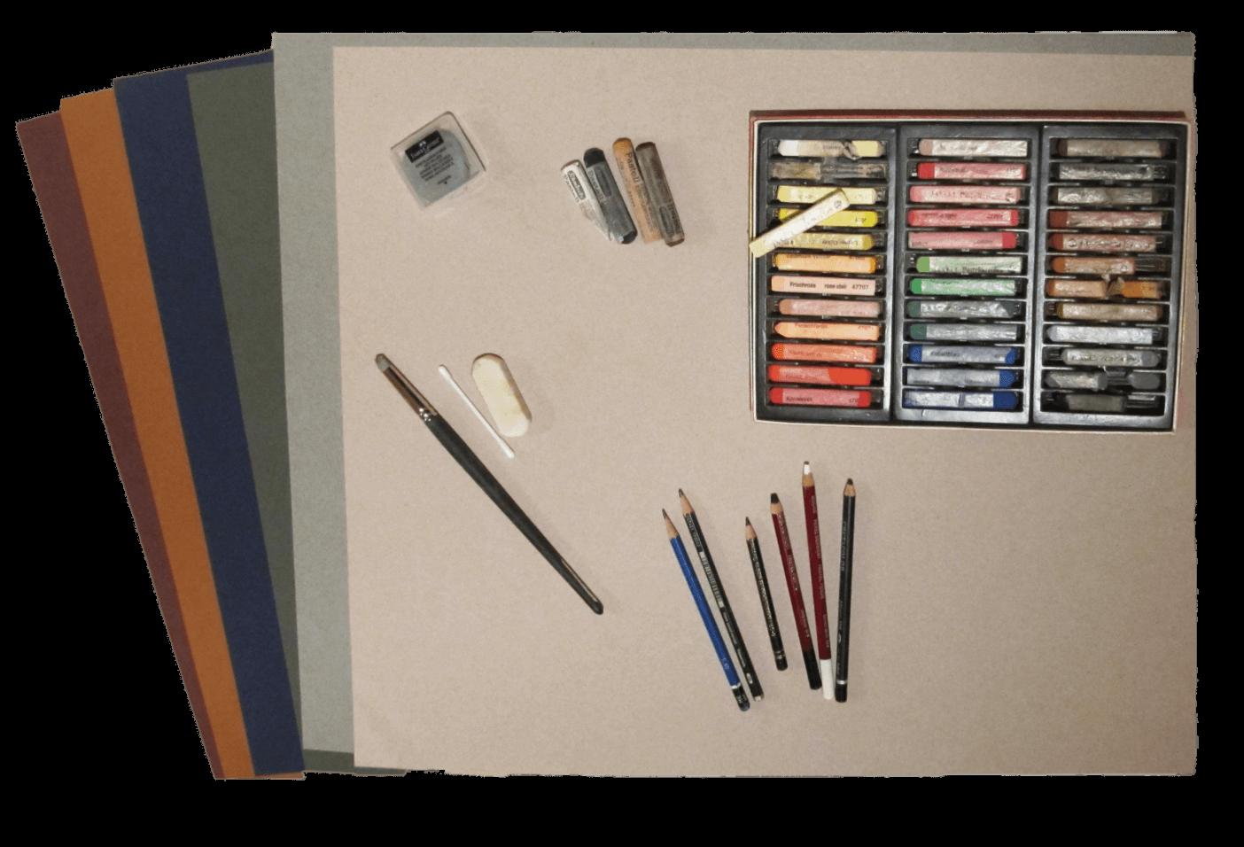 Materialien für die Pastellmalerei