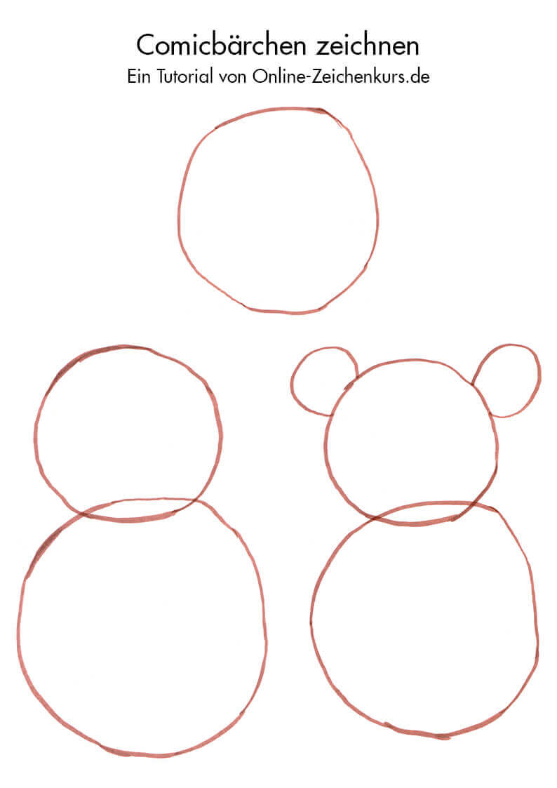 Zeichnen Für Kinder Comicbär Zeichnen Tutorial Auch Für ältere