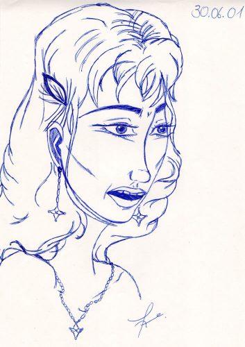 2001 - Kugelschreiber Portrait