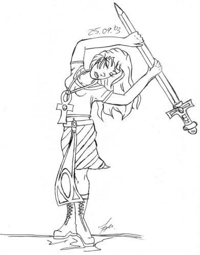 2003 - Kriegerin mit Schwert