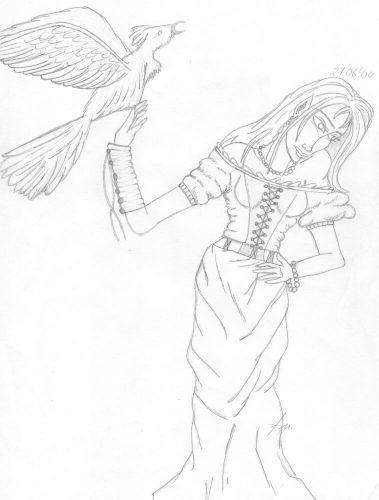 2004 - Frau mit Vogel