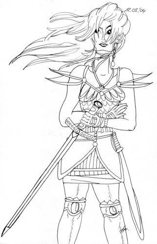 2004 - Kriegerin mit Schwert