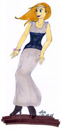 2008 - Frau im Kleid