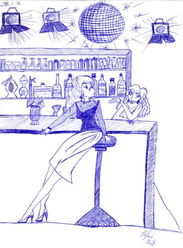 1998 - Frau in Cocktailbar