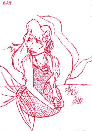1998 - Meerjungfrau mit rotem Kuli