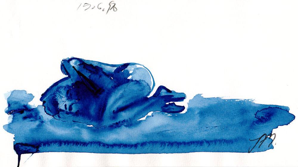 1998 - Aquarell liegende Frau