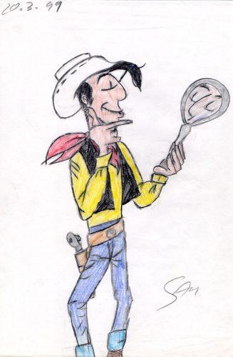 1999 - Lucky Luke mit Spiegel