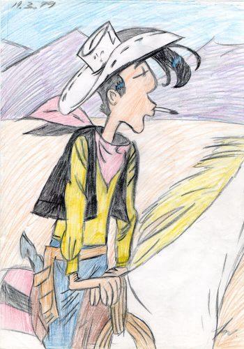 1999 - Lucky Luke auf Pferd