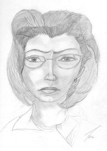 1999 - Bleistiftportrait meiner Mutter