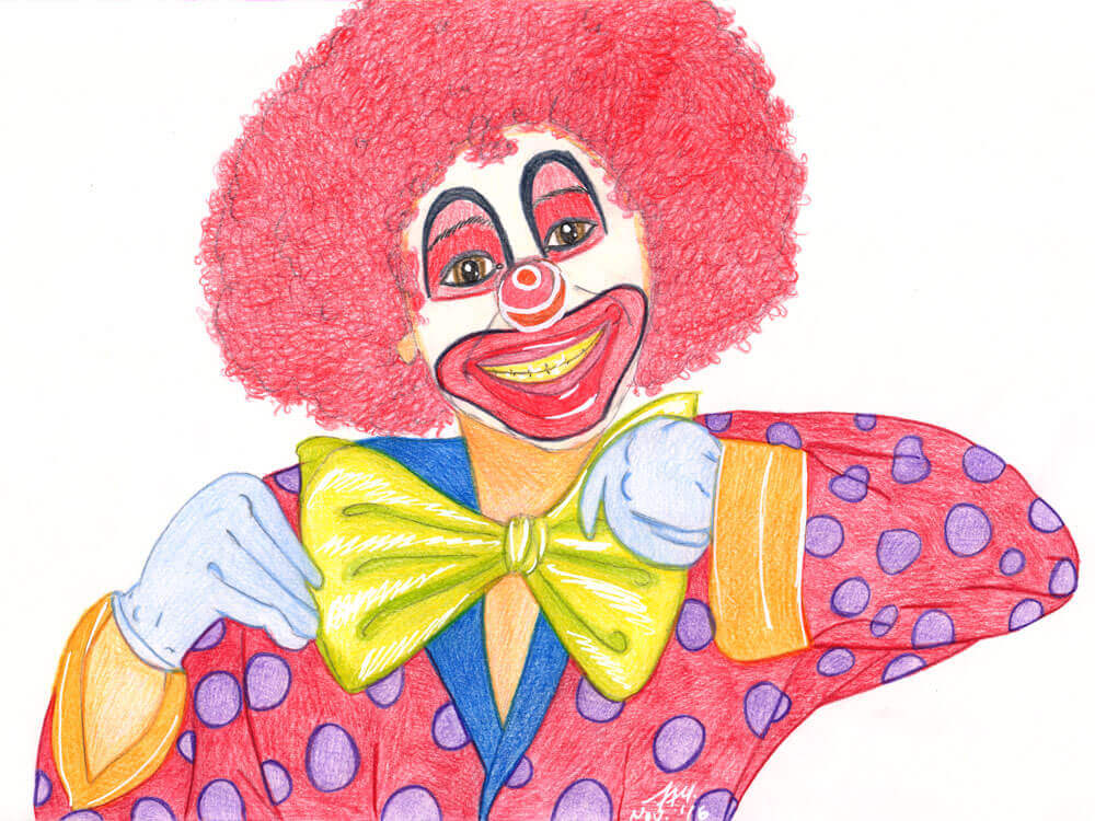 Clownbild fertig