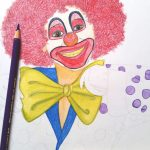 Clown zeichnen mit Polychromos – Helau und Alaaf!