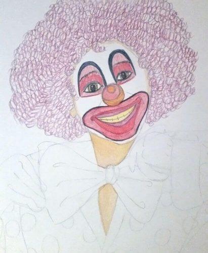 Clownbild - Schritt 3