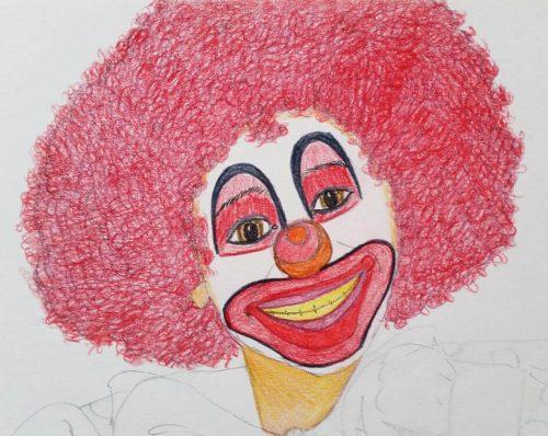 Clownbild - Schritt 4