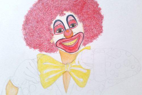 Clownbild - Schritt 5