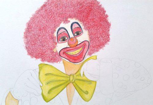 Clownbild - Schritt 6