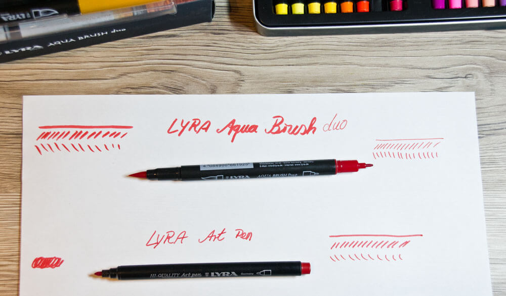 Vorstellung: LYRA Art Pen & Aqua Brush duo Filzstifte