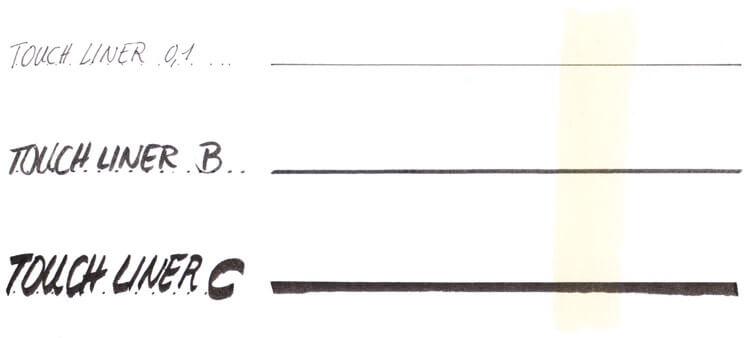 Markerauftrag: Fineliner, Pinselspitze Kalligrafiespitze