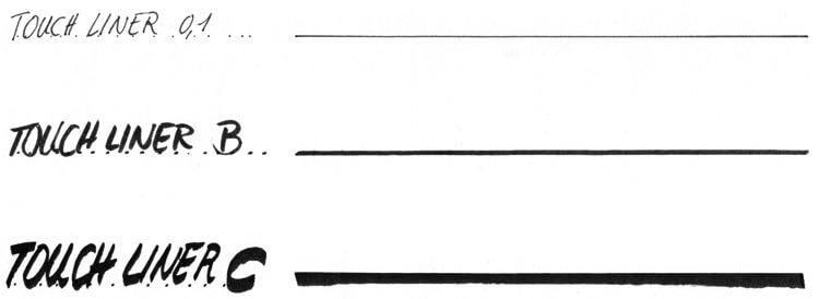 Fineliner, Pinselspitze Kalligrafiespitze