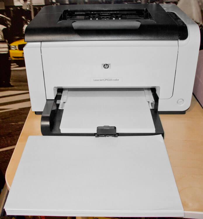HP Laserdrucker und Papier
