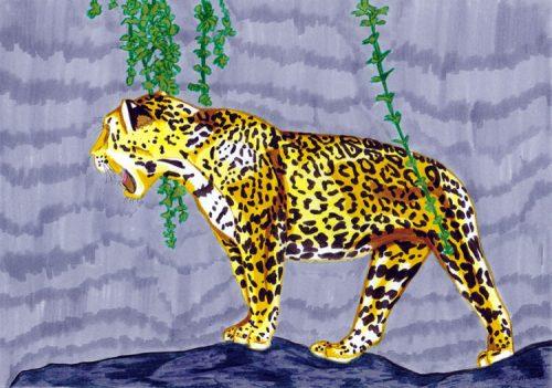 Jaguar Filzstift Kolorierung 9